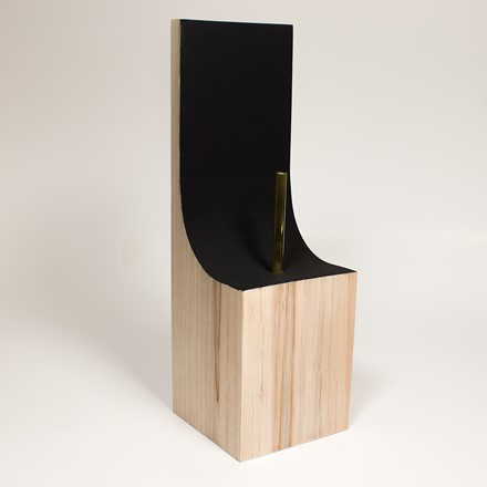 Bust Plinth with Back - Maple 1034