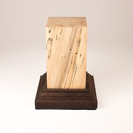 Square Plinth with foot - Spalted Tamarind 1015