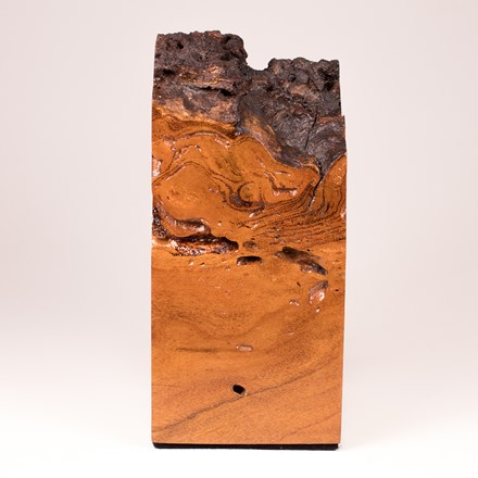 Cherry Burl Plinth with Natural Edge Top 1028