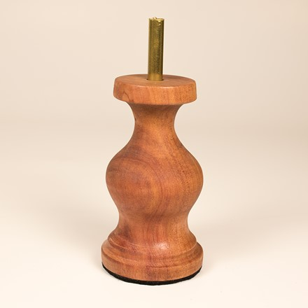 Narrow bust plinth with brass rod 1051