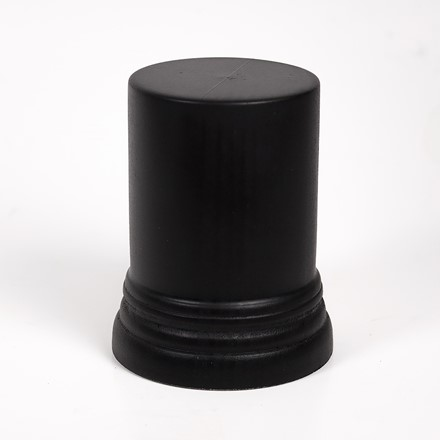 Black Round Plinth with Base 1091