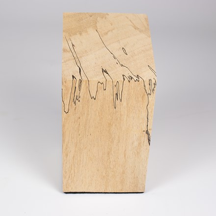 Bust plinth in spalted tamarind 1062