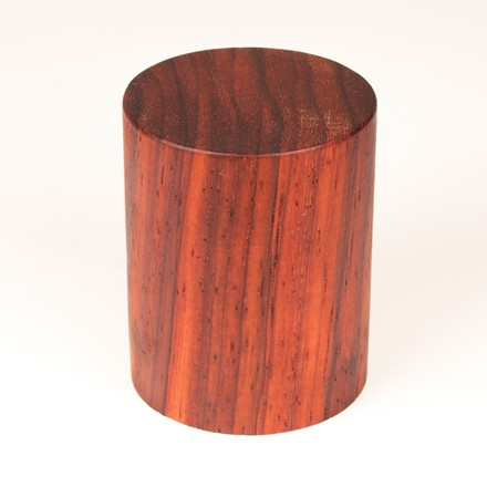Simple Round Plinth - Padauk 1030
