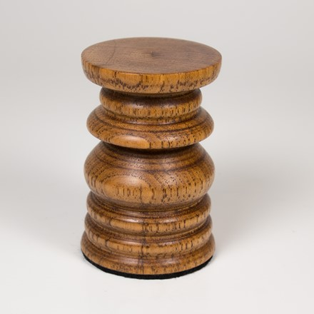 Round Base - stained hickory 1041